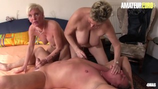 XXXOmas – Crazy German Matures Intense Group Fucking With Lucky Guy On Camera